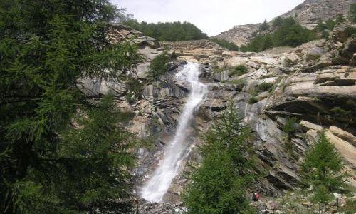 Zdjecie WłOCHY / brak / Park Narodowy Gran Paradiso / Wodospad 1