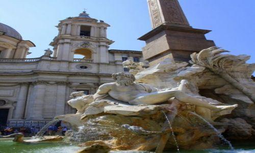 Zdjęcie WłOCHY / Rzym / Piazza Navona / Fontanna Czterech Rzek