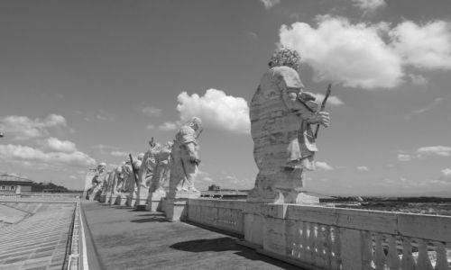 Zdjecie WłOCHY / Rzym / Watykan / na dachu