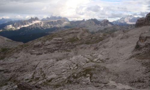 WłOCHY / Dolomity / Cortina d'Ampezzo / Widoki z ferraty  Tomaselli.