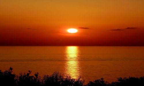 Zdjecie WłOCHY / Campania / Palinuro / zachód słońca nad Morzem Tyrreńskim