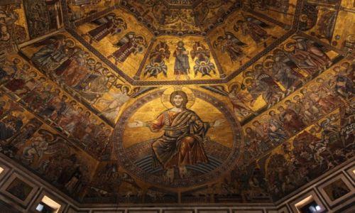 Zdjecie WłOCHY / Toskania / Florencja / Katedra Santa Maria del Fiore, patrząc w górę