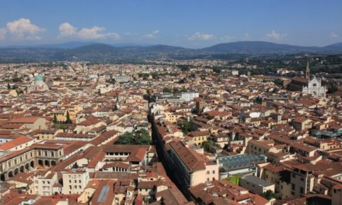 Zdjęcie WłOCHY / Toskania / Florencja / Ponad dachami