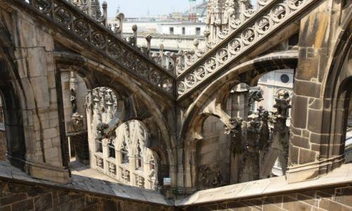 Zdjecie WłOCHY / Lombardia / Katedra Narodzin Św. Marii w Mediolanie / Bogactwo form i detali