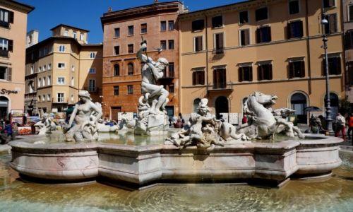 Zdjęcie WłOCHY / Rzym / Piazza Navona / Fontanna Neptuna
