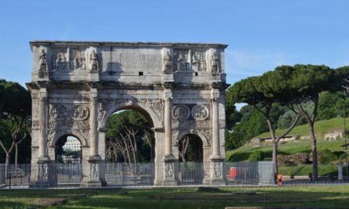 Zdjecie WłOCHY / Lacjum / Rzym / Luk Konstantyna Wielkiego