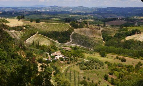 Zdjecie WłOCHY / Toskania / San Gimignano / Toskańskie widoki