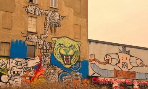 Zdjęcie WłOCHY / - / Mediolan / Street Art na dzielnicy Navilgo