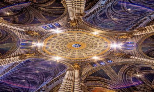 Zdjęcie WłOCHY / Toskania / Siena / Sklepienie katedry w Sienie