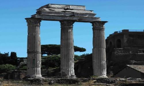 Zdjęcie WłOCHY / Rzym / Forum Romanum / Świątynia Kastora