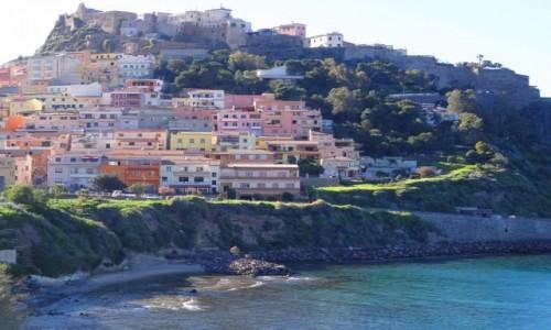 Zdj�cie W�OCHY / Sardynia / Castelsardo / CASTELSARDO - pere�ka Sardynii o zachodzie s�o�ca
