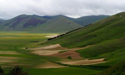 WłOCHY / Umbria / Castelluccio/Norcia / Dolina