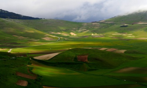 W�OCHY / Umbria / Castelluccio/Norcia / ...troch� s�o�ca w dolinie...
