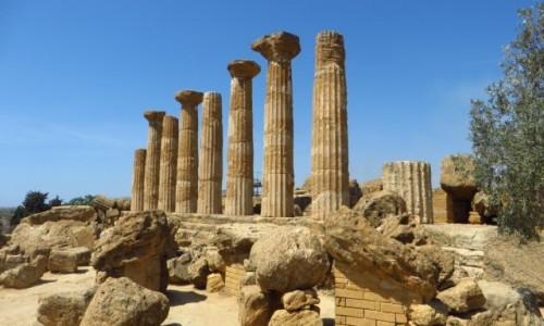 Zdjęcie WłOCHY / Sycylia / Agrygent / Świątynia Herkulesa