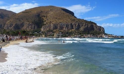 W�OCHY / Sycylia / Mondello / morze Tyre�skie