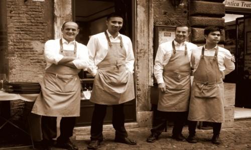 Zdjęcie WłOCHY / Lacjum / Rzym / Kelnerzy