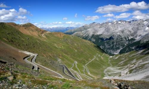 Zdjecie WłOCHY / Prowincja Bolzano / Stelviopass / Droga na Stelvio