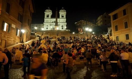 Zdjęcie WłOCHY / Lacjum / Schody Hiszpańskie, Rzym / Rzym nocę