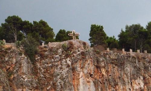 Zdjęcie WłOCHY / Sycylia / Cefalu / wierzchołek skały o zmierzchu