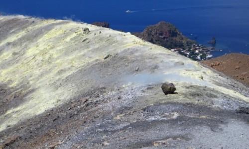Zdjęcie WłOCHY / Wyspy Liparyjskie / Vulcano / zbocze krateru