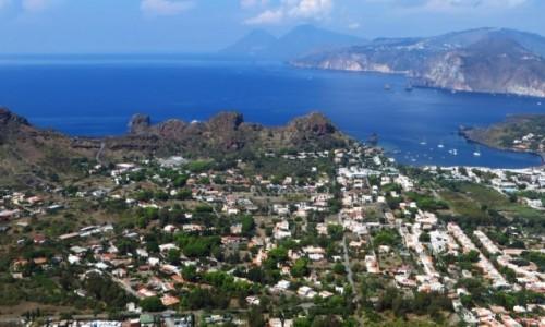 Zdjęcie WłOCHY / Wyspy Liparyjskie / Vulcano / widok ze szczytu wulkanu