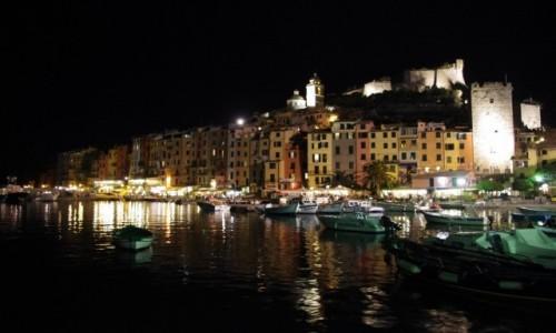 Zdjecie WłOCHY / Cinque Terre / PortoVenere / kolorowa noc w zatoczce