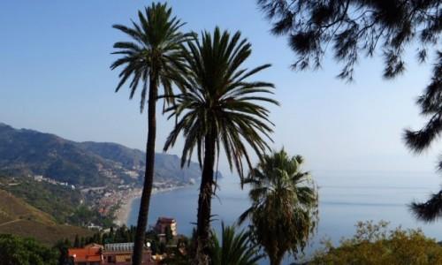 Zdjęcie WłOCHY / Sycylia / Taormina / widok na plaże Taorminy