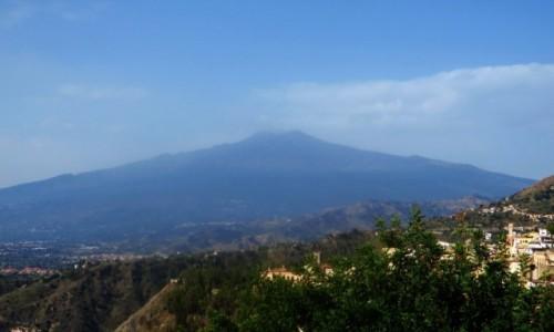 Zdjęcie WłOCHY / Sycylia / Taormina / Etna widok z Taorminy