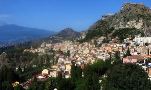 Zdjęcie WłOCHY / Sycylia / Taormina / panorama miasta