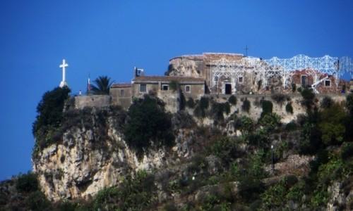 Zdjęcie WłOCHY / Sycylia / Taormina / klasztor na szczycie