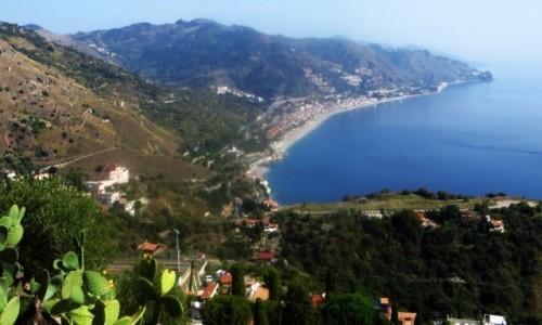 Zdjęcie WłOCHY / Sycylia / Taormina / panorama wybrzeża