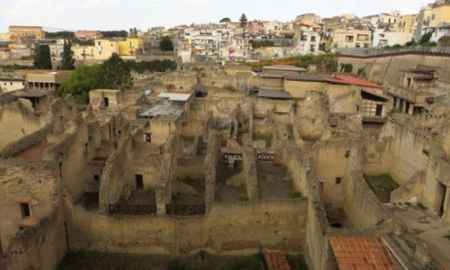 Zdjecie WłOCHY / Kampania / Ercolano Scavi / ruiny Herculanum
