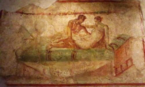 Zdjęcie WłOCHY / Kampania / Pompeje / malowidła z domu publicznego