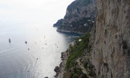 Zdjęcie WłOCHY / Kampania / Capri / klifowe wybrzeże