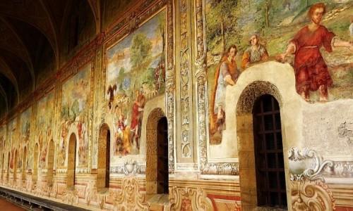 Zdjęcie WłOCHY / Kampania / Neapol / krużganki kościoła św. Klary