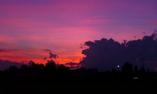 Zdjecie WłOCHY / - / Udine / No filter, no photoshop. Zachód słońca nad Udine.