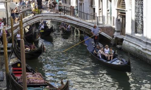 Zdjęcie WłOCHY / - / Wenecja / weneckie gondole