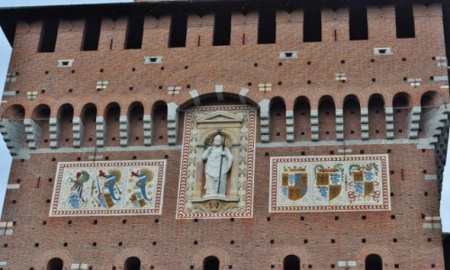 Zdjęcie WłOCHY / Lombardia / Mediolan / Mediolan, Zamek rodu Sforzów