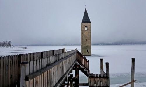 Zdjecie WłOCHY / Południowy Tyrol / Jezioro Resia /  Lago di Resia