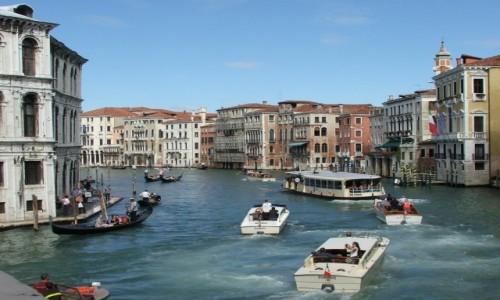 Zdjecie WłOCHY / - / Wenecja / Na Canale Grande