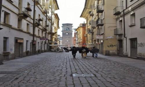 WłOCHY / Piemont / Turyn / Turyn, widok na dzwonnicę katedry