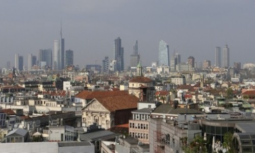 WłOCHY / Lombardia / Milano / Panorama na Corso Como