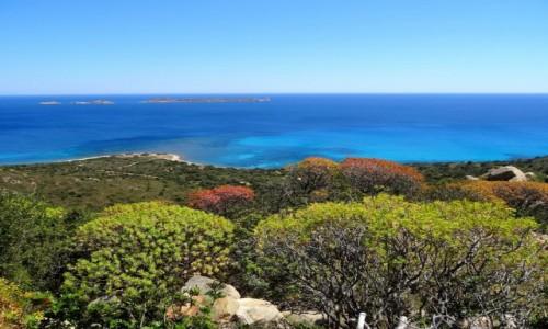 WłOCHY / Sardynia / Villasimius, wschodnie wybrzeże / Bajecznie kolorowa Sardynia - Nuraghe Porceddus