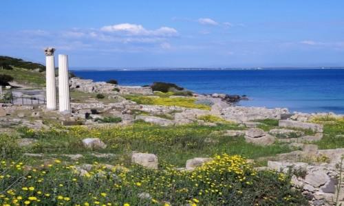Zdjęcie WłOCHY / Sardynia / Półwysep Sinis / Starozytne THARROS