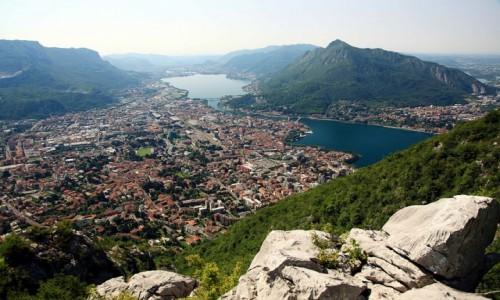 Zdjęcie WłOCHY / Lecco / Góra San Martino (1090 m) / Lecco z góry