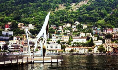 Zdjecie WłOCHY / Lombardia / Como / The Life Electric, rzeźba Daniela Libeskinda