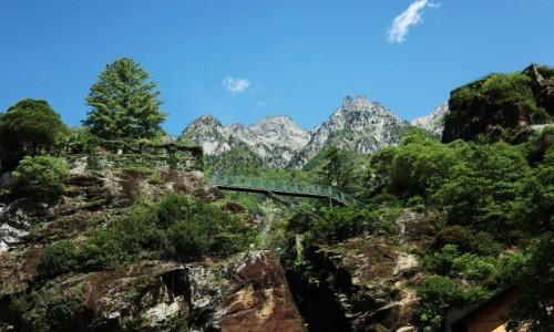 Zdjęcie WłOCHY / Chiavenna / Parco Paradiso / Mostek