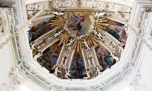 Zdjęcie WłOCHY / Lombardia / Chiavenna / Kościół św. Marii, sklepienie nad ołtarzem