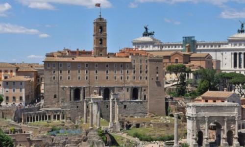 Zdjęcie WłOCHY / Lazio / Rzym / Rzym,  Forum Romanum i kapitol