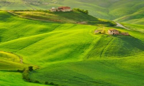 Zdjecie WłOCHY / Toskania / Mucilgani / Opuszczone farmy